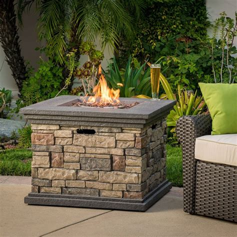 outdoor square liquid propane fire pit fresh garden decor