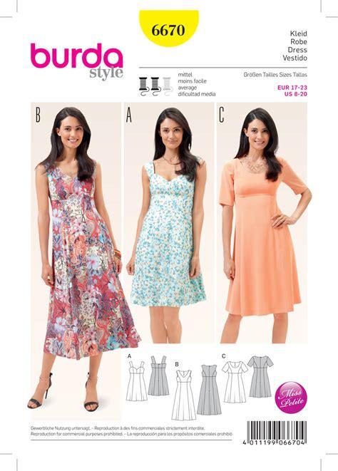 pattern review dress form burda 6670 misses dress