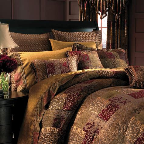 red brown and gold comforter sets brown gold red patchwork curtain google search ideas