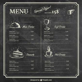 editable menu templates free editable restaurant menu template vector free