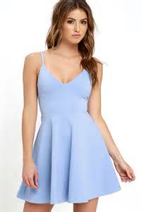 dress light blue light blue dress skater dress fit and flare dress