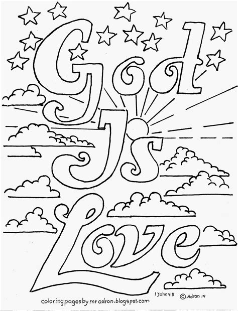 free coloring pages of gods love
