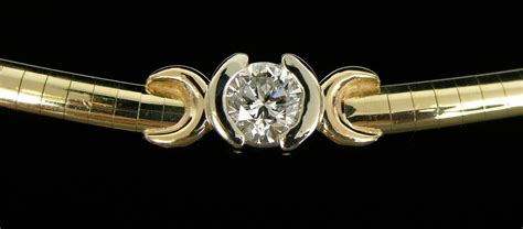 Choker Gold Ring Omega Choker gold omega necklace slides necklaces pendants