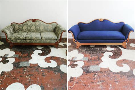 how to reupholster a vintage sofa reupholstered eszterieur