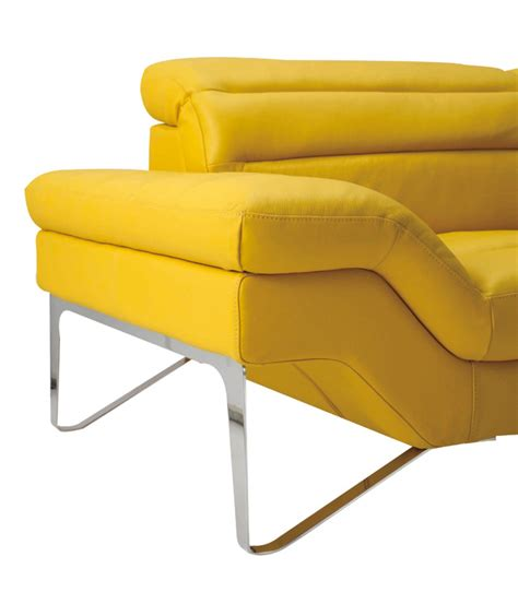 yellow leather couch divani casa leven modern yellow leather sectional sofa