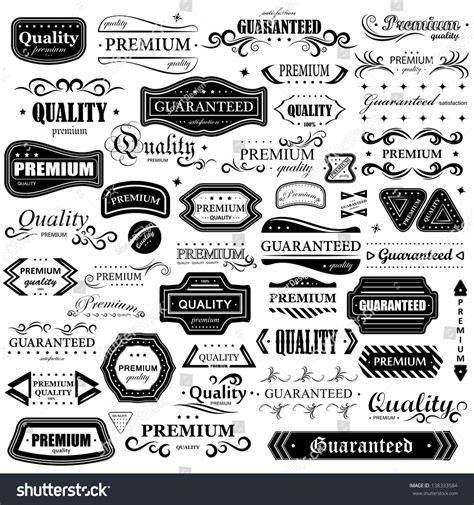 design elements style vintage design elements set labels retro stock vector