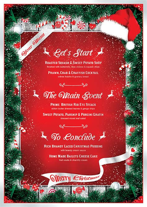 7 xmas menus 7 invitations bundle thats design store
