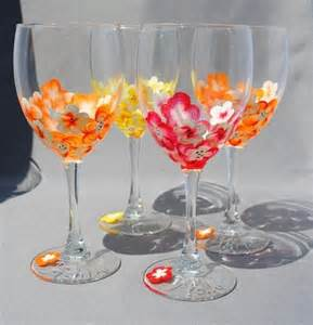 wine glass decorating ideas painted wine glasses wine glass decorating