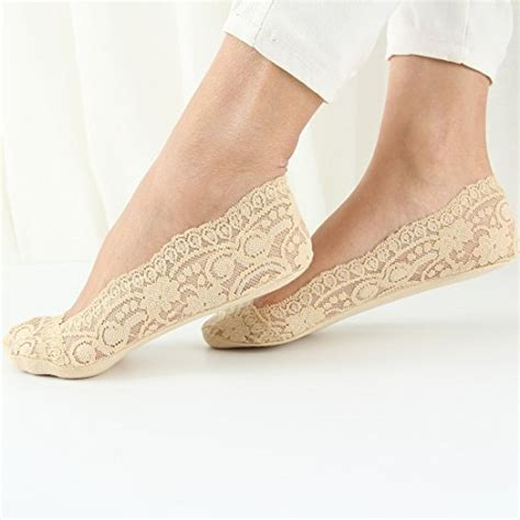 Lace No Show Socks 187 faybox no show socks lace floral low cut liner