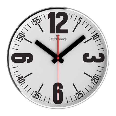 buy luca white 40cm silent wall clock online purely wall clocks buy bold 40cm chrome steel wall clock online purely wall