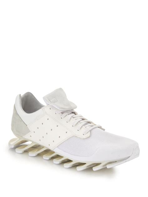 white rick owens sneakers rick owens low rise springblade sneakers in white lyst