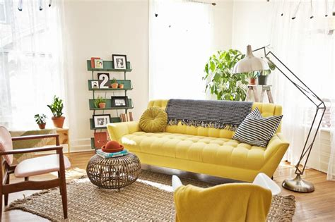 Bright Yellow Chair Design Ideas Yellow Sofa A For Your Living Room