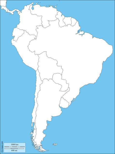 south america map with states south america free map free blank map free outline map