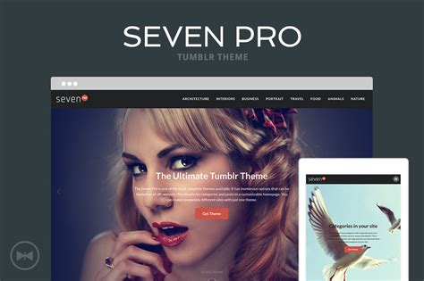 professional looking tumblr themes free seven pro tumblr theme by themelantic themeforest