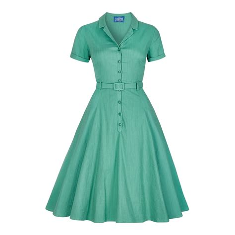 plain swing dress collectif vintage caterina plain swing dress collectif