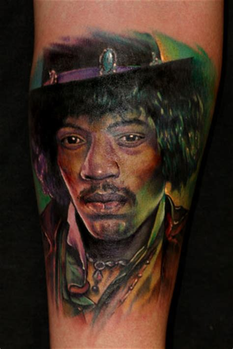 colored tattoos on black skin on skin