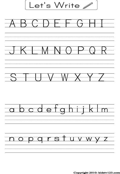printable alphabet handwriting sheets for kindergarten free printable alphabet worksheets preschool writing and