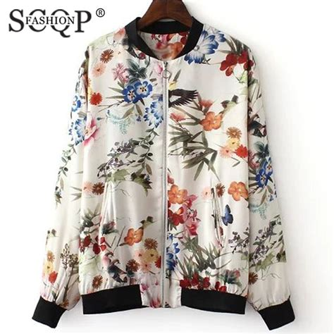 Blue Floral Boomber Printing july 2014 fit jacket part 25
