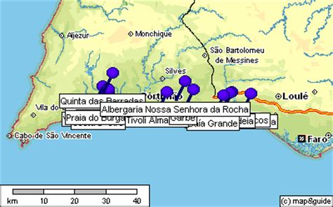 Porches Algarve Map by Maps For Hotel Albergaria Senhora Da Rocha
