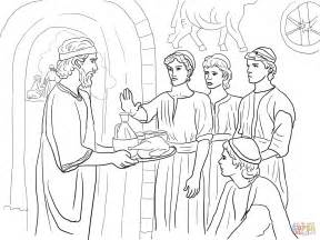 Daniel Coloring Pages daniel and his friends coloring page coloring pages
