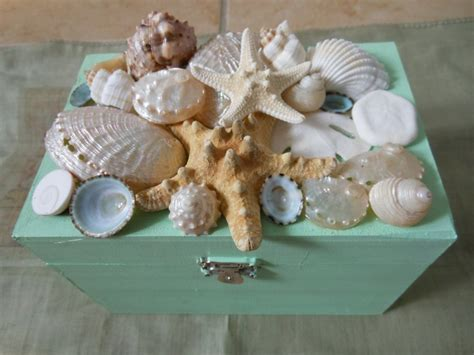 craft projects with seashells decor seashell jewelry box 32 00 via etsy