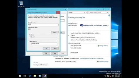 change computer host   windows server