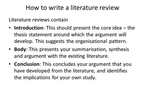 how to write a literature paper how to write a literature review for a research paper 28