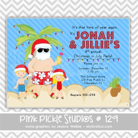 printable christmas in july cards 157 best images about christmas in july party on pinterest