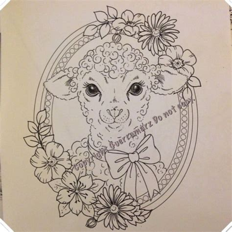 tattoo flower frame 12 unique sheep tattoo designs sles and ideas