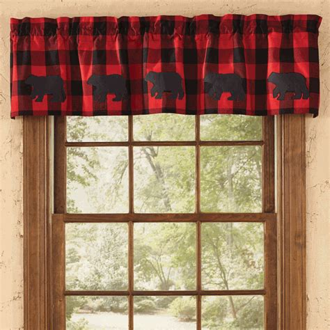 Black Bear Buffalo Check Valance