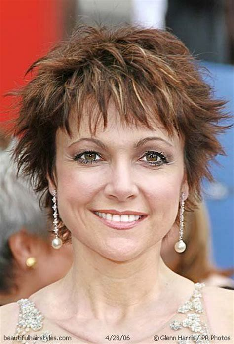 easy short hair styles for thin hair over 50 short shaggy hairstyles for women over 50
