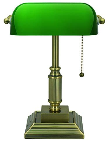green glass shade bankers l v light traditional style cfl banker s desk l with