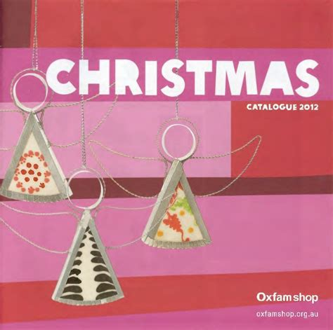 oxfam shop christmas catalogue 2012