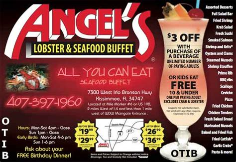 angel s lobster seafood buffet 3 off coupon