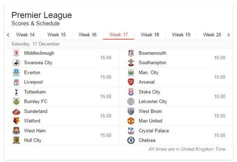 epl week 17 football match schedules 2016 17 187 expert motorised