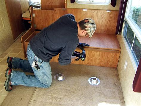 replace rv dinette with sofa give your old rv a facelift replace the rv furniture