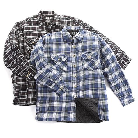 Quilted Shirts For by 2 Pk Quilted Flannel Shirts 230276 Shirts At Sportsman