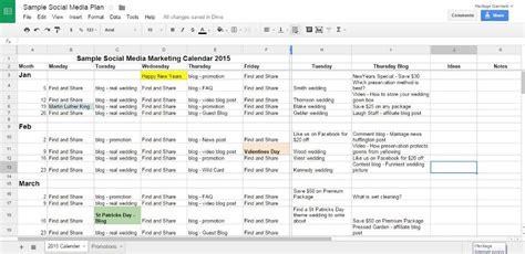 social media plans template social media calendar template excel 2018 calendar template