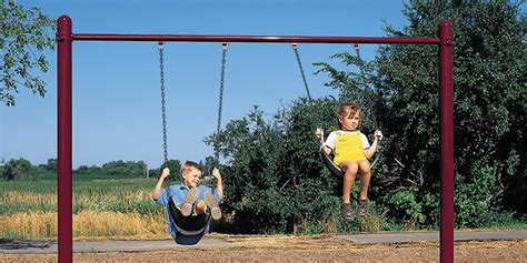 single post swing playground swings for commercial playgrounds