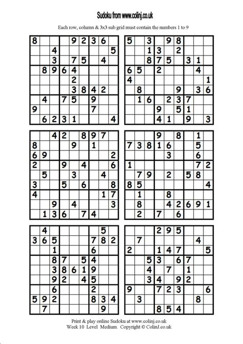 printable sudoku 6 to a page 4 best images of printable hard sudoku puzzles 4 per page
