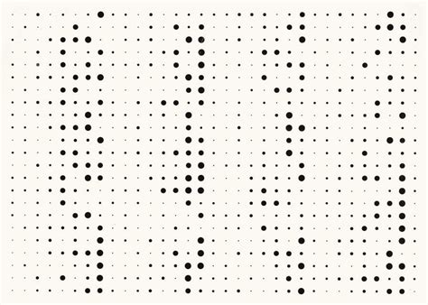 pattern random dot herman de vries digital catalogue 1973 v73 236 random