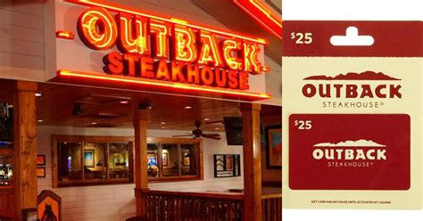 Outback Gift Card Deal - outback steakhouse 25 gift card giveaway joe