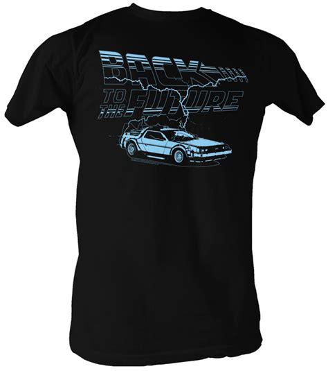 Tees Kaos T Shirt Future back to the future t shirt ride the lightning black