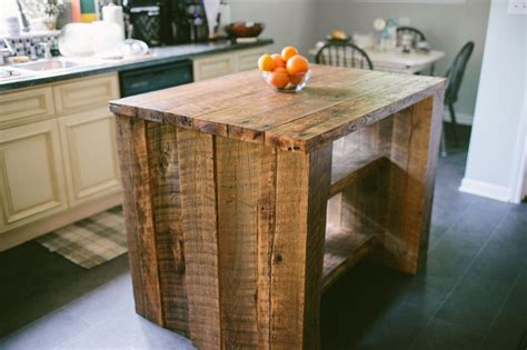 reclaimed kitchen islands custom reclaimed kitchen island by designs custommade