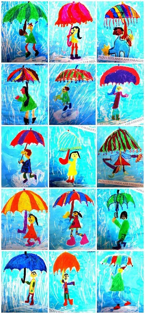 umbrella art pattern umbrella and rain storm directed drawing adorable