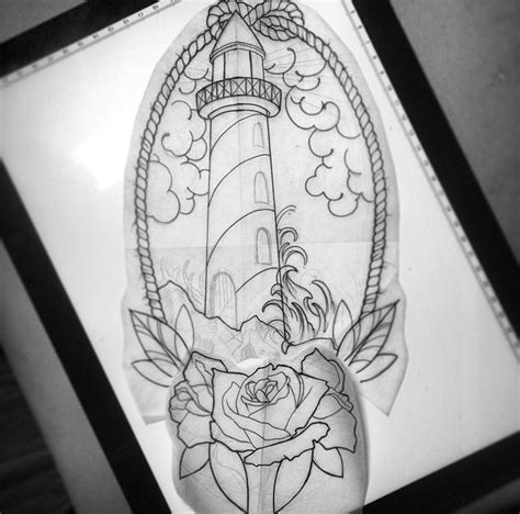 traditional lighthouse tattoo lighthouse design
