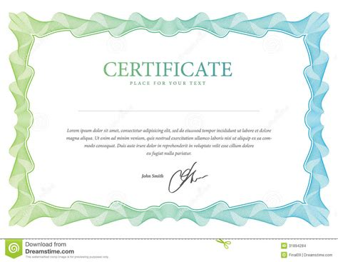 certificate layout vector certificate vector template stock vector illustration