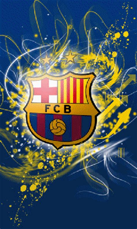 barcelona animated wallpaper animasi bergerak sport 226 7 logo fc barcelona fc