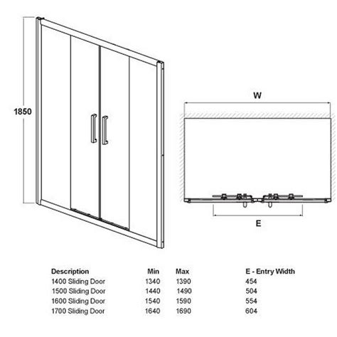 Glass Shower Door Sizes 8mm Sliding Shower Door Sizes 1400mm 1700mm 163 165
