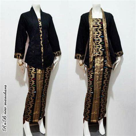 Baju Setelan Muslim Rok Motif Songket jual setelan kebaya batik rok blus kutubaru motif
